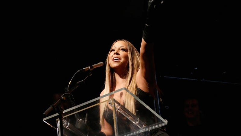 A Festive Mariah Carey and Her Boobs Honor Lee Daniels at Out 100 Gala