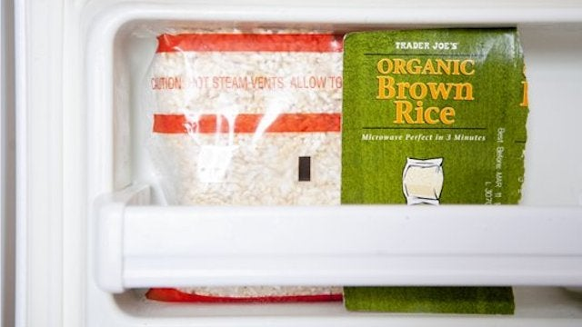 Fit More Food in a Tiny Refrigerator by Removing the Packaging