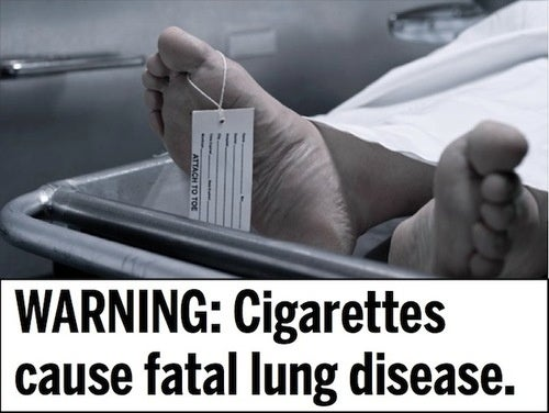 Your $12 Pack of Cigarettes Will Now Come With These Horrible Pictures - Gallery