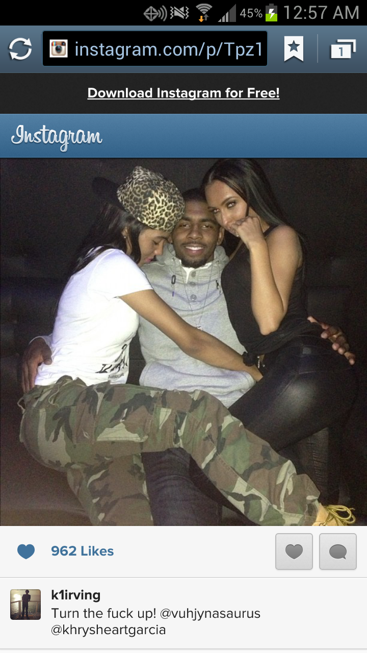 It Looks Like Kyrie Irving Had Himself A Nice Christmas (As Did The Two Ladies On His Lap)