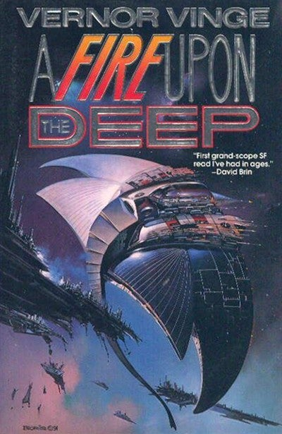 Vernor Vinge's sequel to A Fire Upon The Deep coming in October!