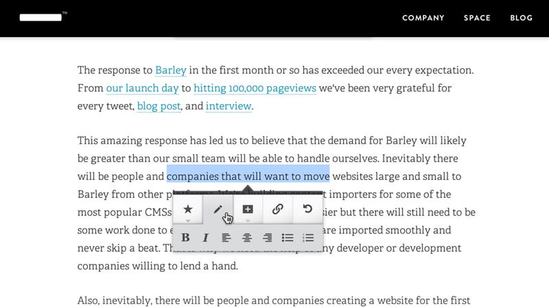 Barley Trades Creative Control For Ridiculous Ease Of Use