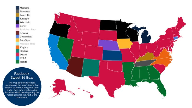 """Which Sweet Sixteen Team Is Your State The Most """"Excited"""" About?"""