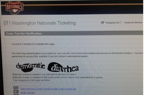 Even The Washington Nationals' Ticket Website Knows They're Crap