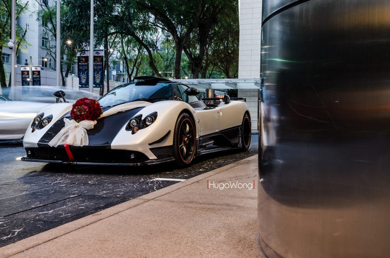The Pagani Zonda Cinque Is the Best Wedding Car Ever