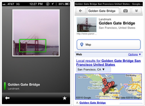 Google Goggles Arrives On the iPhone Today