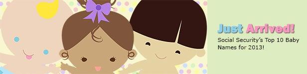 Top 10 Baby Names of 2013