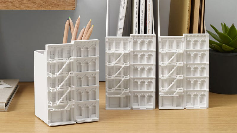 Intricate Architectural Office Supplies Put a Skyline On Your Desk