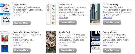 Google Mac downloads