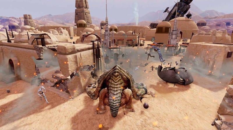 New Kinect Star Wars Screenshots. You Get to Smash Around as a Rancor