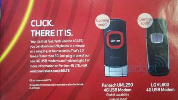 "Leaked Verizon LTE Modems ""Coming Soon"""