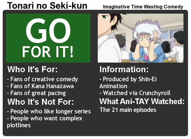 Tonari no Seki-kun: The Ani-TAY Review