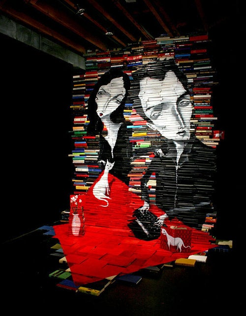 The Medium Is the Message In Sculptures Made of Books
