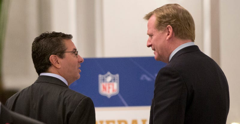 Report: Goodell, Redskins Discussed Team Name In Secret D.C. Meeting