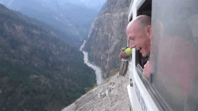 Terrifying van ride up the Himalayas would scare the life out of me