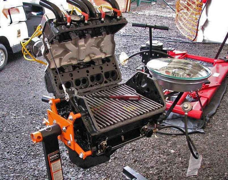 Small Car Grills : Small block chevy grill burns meat not mustangs