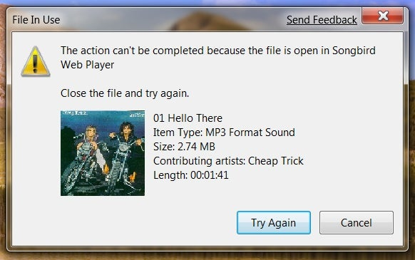 Windows 7 Tells You Why You Can't Touch That File