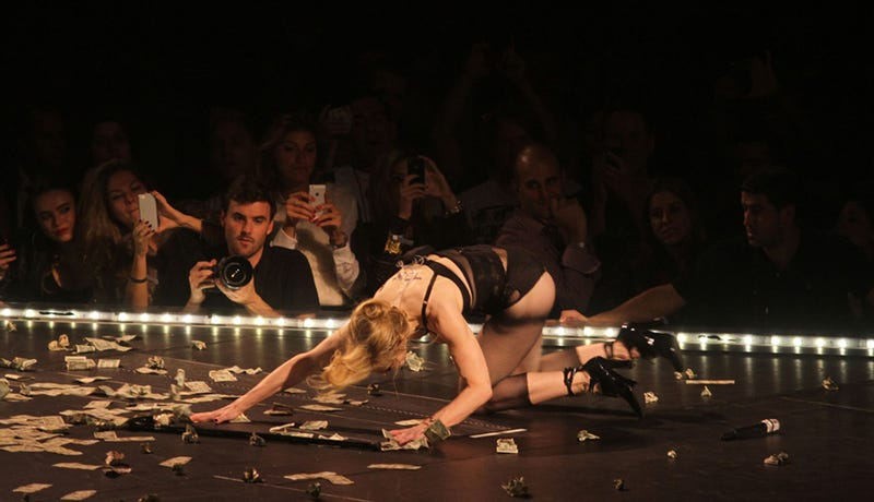 Hurricane Sandy Strips Madonna Bare