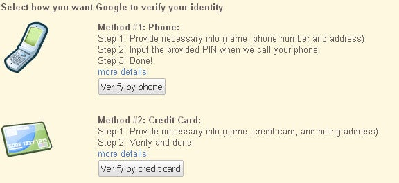 Knol Verifies Your Google Account Identity
