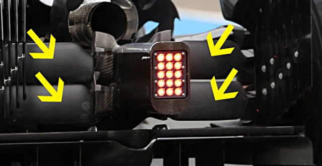 "F1 ANALYSIS: McLaren suspension ""blocks"""