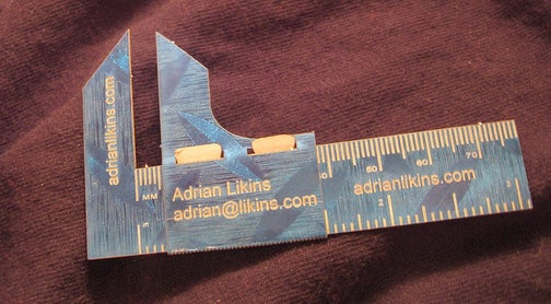 DIY Business Card Calipers Give You An Edge...Or Two
