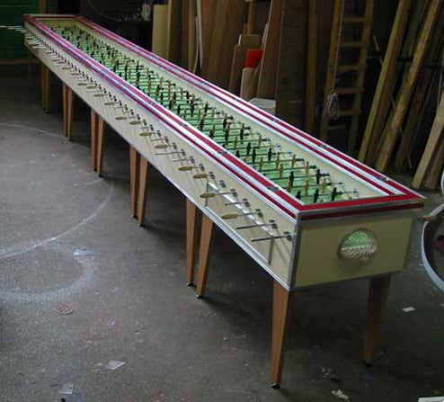 World's Largest Foosball Table: You Don't Have This Much Game