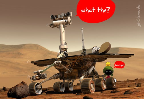 Fellow Robots Trying to Help Stuck Mars Spirit
