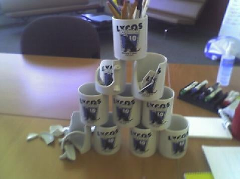 Lycos can kill morale with a coffee mug