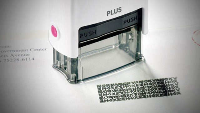 ID Guard Stamp Obscures Private Information on Mail and Printed Documents