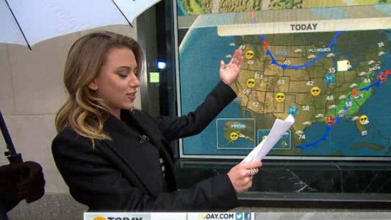 Scarlett Johansson, Weather Enthusiast, Subbed in for Al Roker on the Today Show