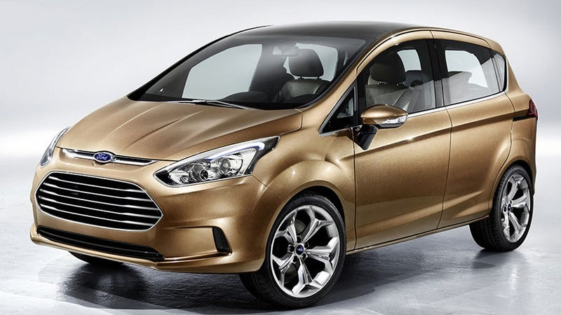 Ford B-Max: A pillar-less Fiesta van for tiny people