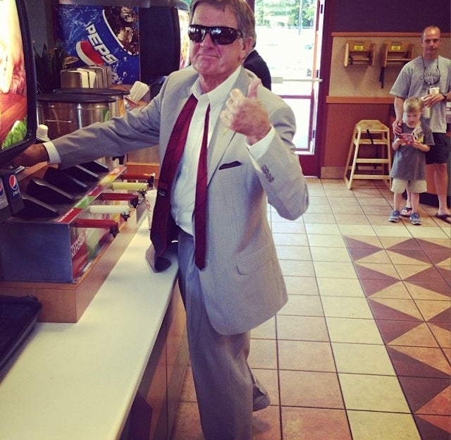I Can't Stop Looking At Steve Spurrier In A Fast-Food Restaurant