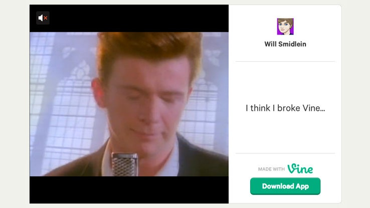 How a Teenager Rickrolled Vine