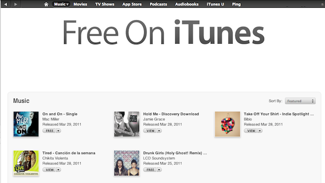 Check iTunes' Free Section to Discover New Music