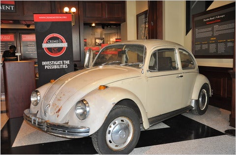 Ted Bundy's VW Beetle On Display In Creepy Museum