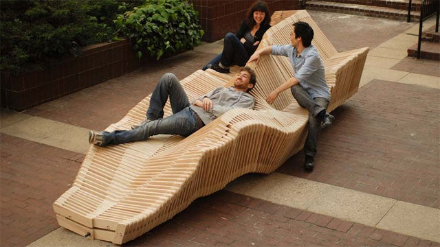 A Bench That's Part See-Saw, Part Slinky