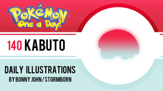 Kabuto!  Pokemon One a Day!