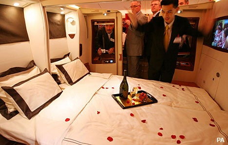 Airbus A380's Double Beds Remove All the Charm, Naughtiness from Mile High Club