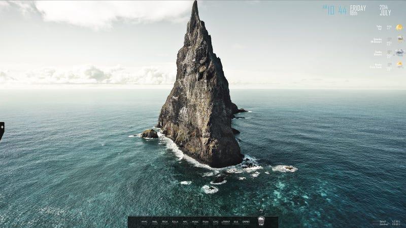 The Lonely Rock Desktop
