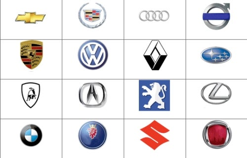 How Fast Can You Name Automaker Logos?