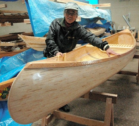Man Makes Canoe with Seven Thousand Chopsticks
