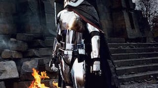First Look AtGwendoline Christie As<i>The Force Awakens</i>' Chrometrooper