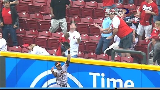 Jay Bruce Homers, Child Naps, Guy Drops Ball While Holding Napping Child