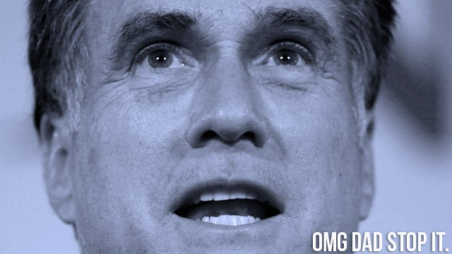 Mitt Romney Is Running For America's Embarrassing Dad