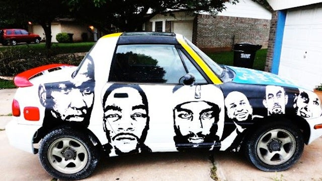 Oklahoma City Thunder Fan Is Selling His Homemade Painted Suzuki