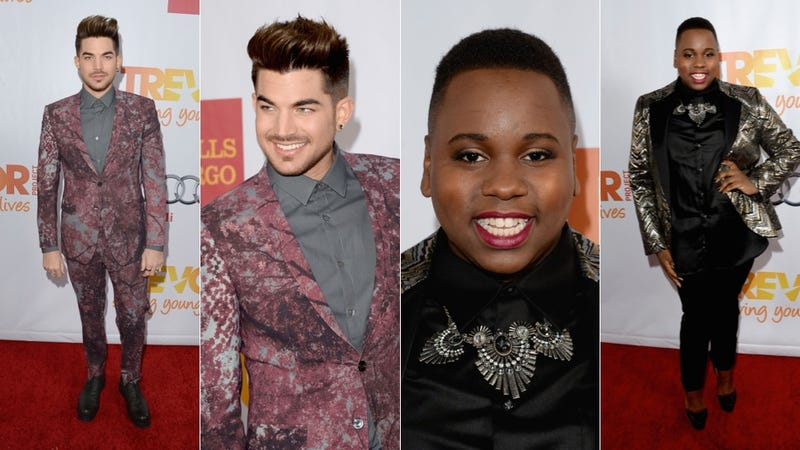 Shiny Hair, Bright Lips and Ugly Dresses at the Trevor Project Event