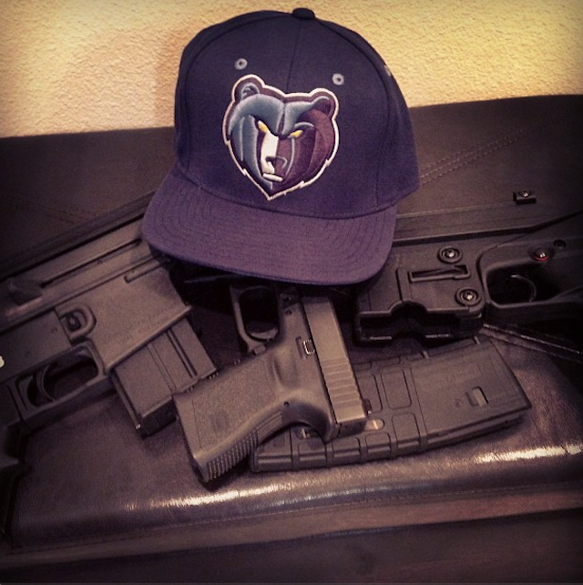 Three 6 Mafia Member Is A Big Grizzlies Fan, Has Lots Of Guns