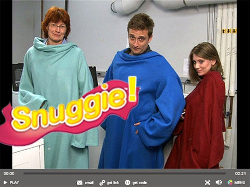 Consumer Reports Tests the Snuggie