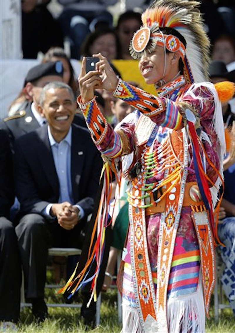 The Obamas Celebrated Flag Day on a Reservation
