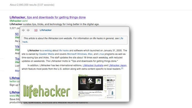 QuickWiki for Firefox Shows Pop-Up Previews for Wikipedia Entries